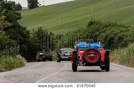 old car landscape retro O.M. 665 SS MM Superba 2200   mille miglia 2015