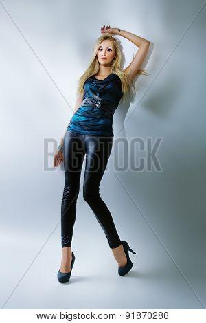 Beautiful Young Woman Posing, Vogue Style Photo