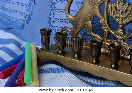 Menorah And Candles