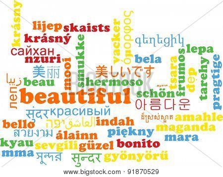 Background concept wordcloud multilanguage international many language illustration of beautiful