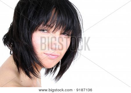 Sexy Girl With Shaggy Hair