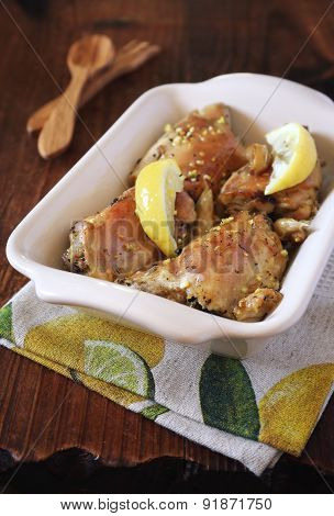 Broiled Chicken With Lemon And Lemon Zest