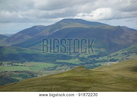 Calfhow Pike and Skiddaw