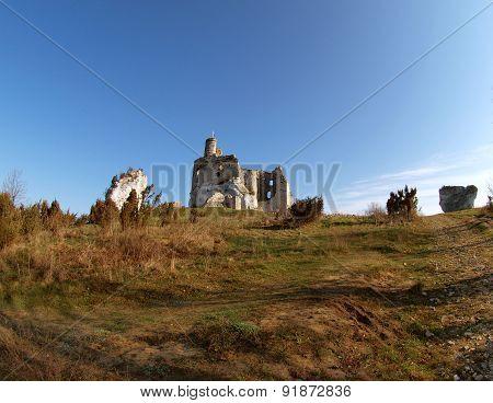 Mirow castle ruins.