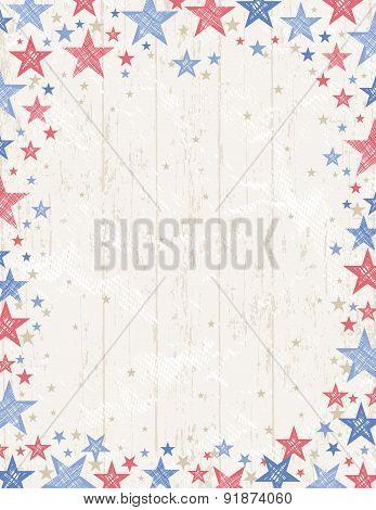 Frame Of Grunge Usa Background, Vector