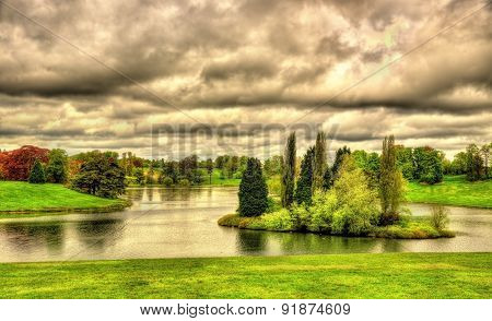 Lake At Blenheim Palace - Oxfordshire, England