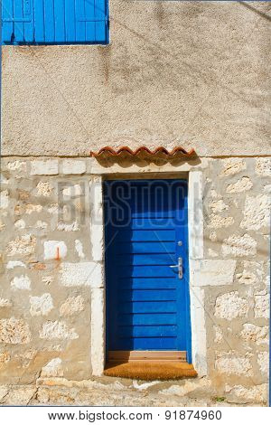 The Wall And The Window, Mediterranian Architecture. Rovinj, Croatia