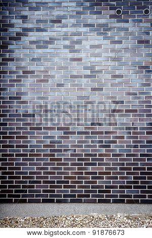 Vibrant Blue Brick Wall
