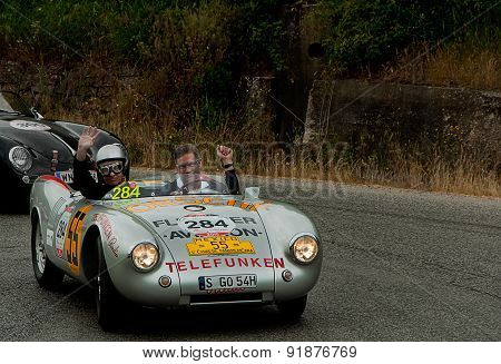 old car PORSCHE 550 Spyder  1500 RS 1953   mille miglia 2015