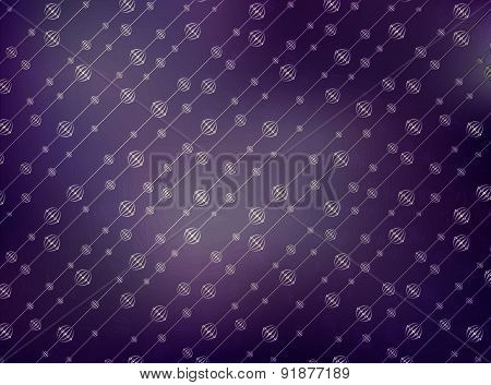 Illustration Of Stylish Abstract Background With Beads For Web Design