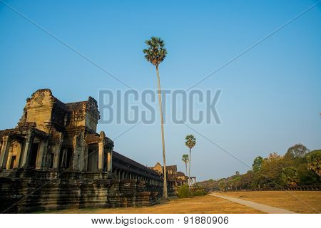 The Temple Complex Of Angkor Wat.Cambodia