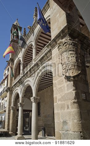 The Town Hall Of Plasencia, Caceres. Spain