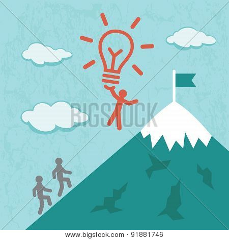 Idea Success Business concept