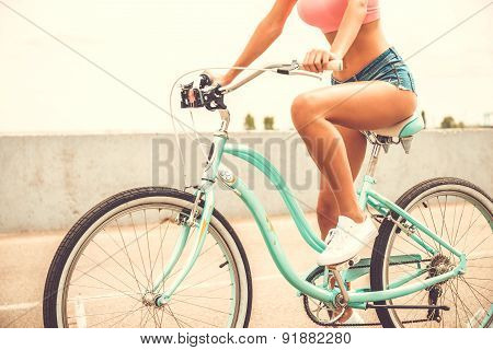 Beauty On Bicycle.