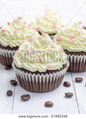 Chocolate Cupcakes With Ricotta Cheese Frosting