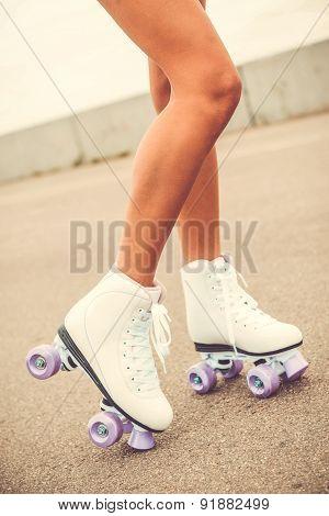 Her New Roller Skates.