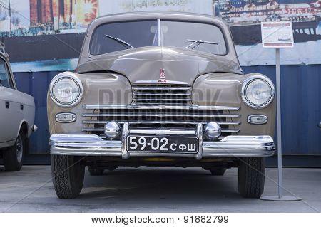 Soviet retro car GAZ M20 Pobeda 1956 release