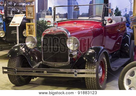 Retro car Ford A Roadster 1929 release