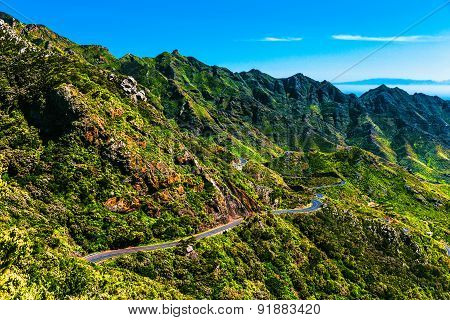 Mountains With Winding Road