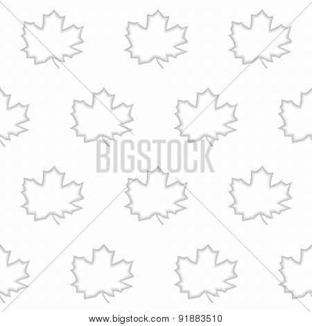 Seamless pattern maple leaf
