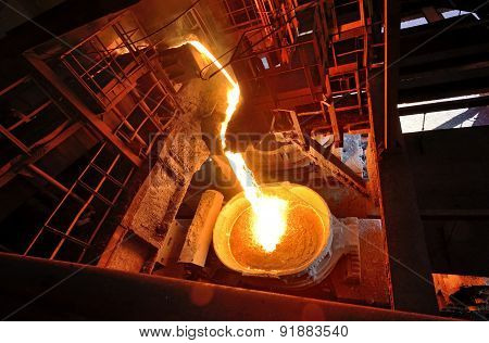 Liquid Metal From Blast Furnace