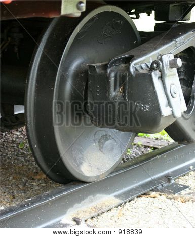 One Train Wheel