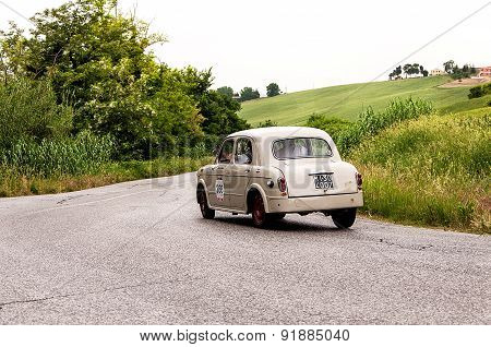 old car FIAT 1100 103 berlina   mille miglia 2015