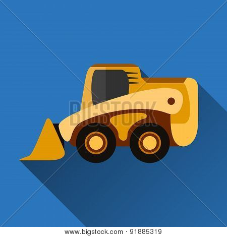 Skid-steer Loader Flat Icon