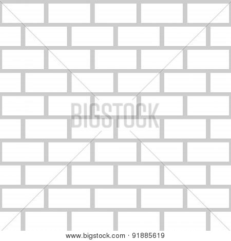Black brick wall seamless pattern. Simple building stonewall background.