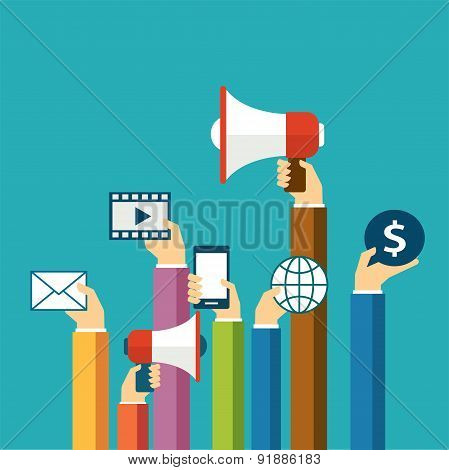 Digital Marketing Concept Flat Design