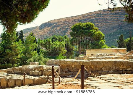 Archaeological Site: Knossos Palace Of King Minos, Crete, Greece.