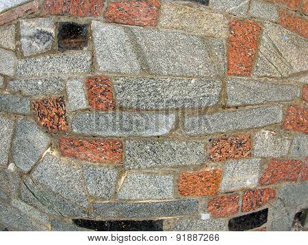 Mosaics Made Of Large Stone Blocks Of Marble