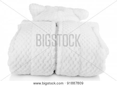 Bathrobe isolated on white