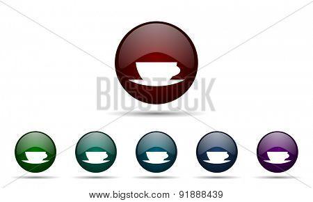 espresso icon caffe cup sign