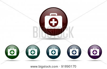 first aid icon hospital icon