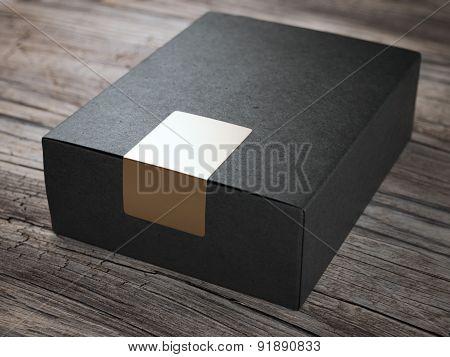 Black box with golden sticker