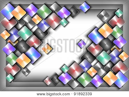 Abstract Colorful Buttons