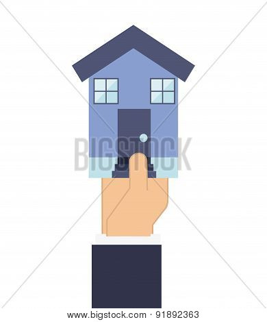 Building design over white background vector illustration