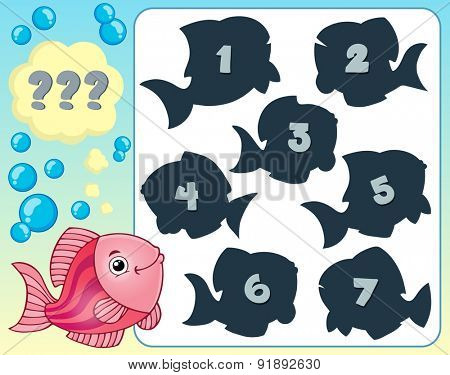 Fish riddle theme image 3 - eps10 vector illustration.