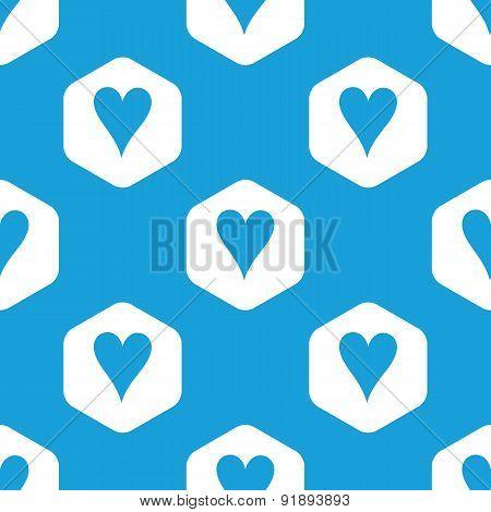Hearts hexagon pattern