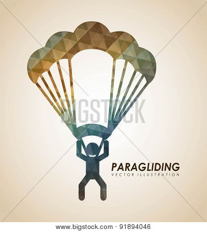 Paragliding design over beige background vector illustration