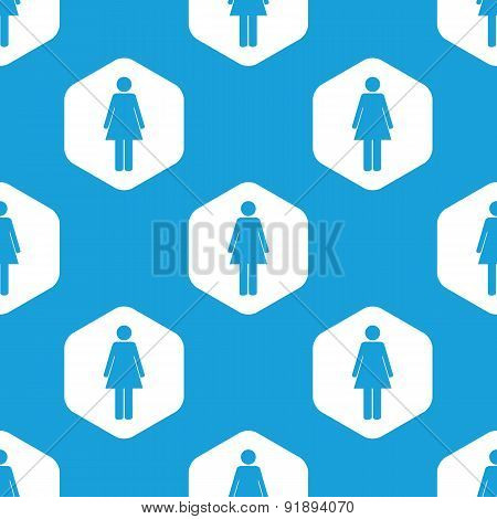 Woman hexagon pattern
