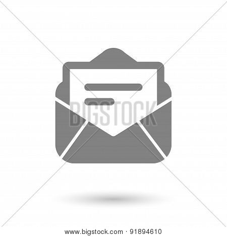 Flat Post Mail Icon Background