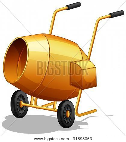 Closeup plain design of cement mixer