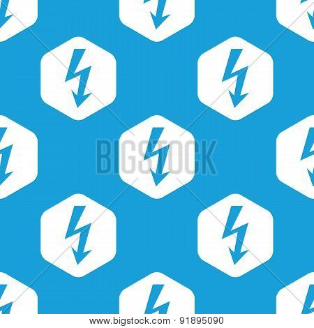 Voltage lightning hexagon pattern