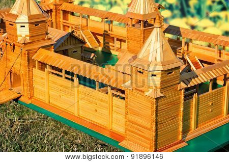 The Layout Of An Ancient Fortress, Made Of Wood.