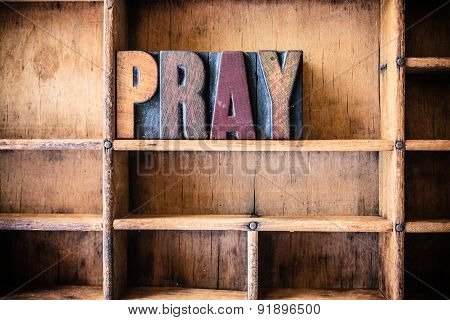 Pray Concept Wooden Letterpress Theme