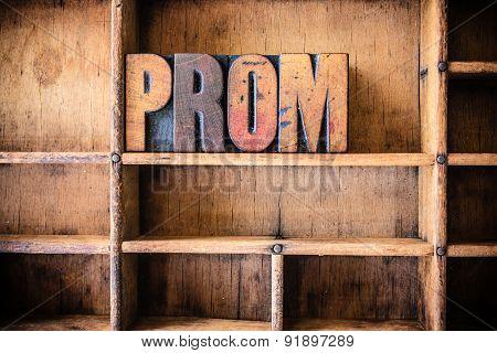 Prom Concept Wooden Letterpress Theme