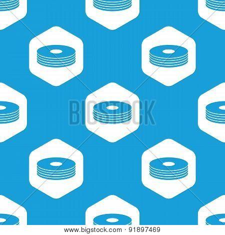 Disc pile hexagon pattern