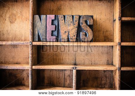 News Concept Wooden Letterpress Theme